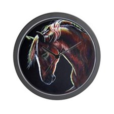 Clifford on Black Wall Clock