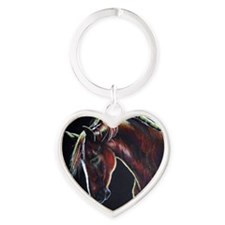 Clifford on Black Heart Keychain