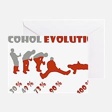 Alcohol evolution Greeting Card