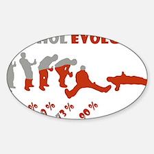 Alcohol evolution Sticker (Oval)