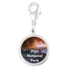 Zion National Park Silver Round Charm