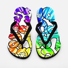 PeaceLovePuppyDogs2Tie-Dye Flip Flops