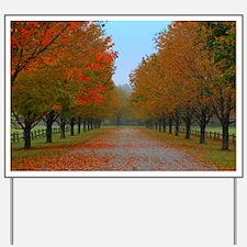 Dreamy Fall New England Drive Yard Sign