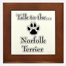 Norfolk Talk Framed Tile
