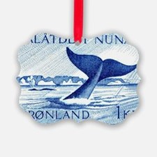 1970 Greenland Whale Tail Postage Ornament