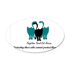 Forgotten Feral Cat Rescue Oval Car Magnet