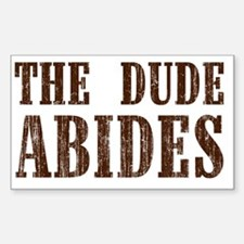 The Dude Abides Bumper Stickers