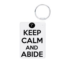 Keep Calm and Abide Keychains