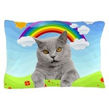 Rainbow Kitty Pillow Case