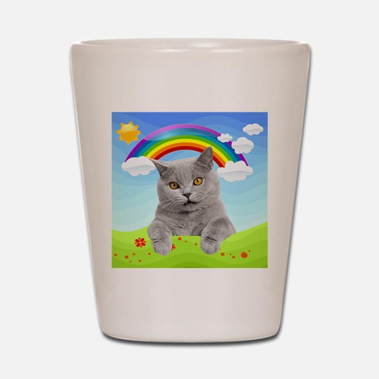 Rainbow Kitty Shot Glass
