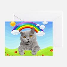 Rainbow Kitty Greeting Card