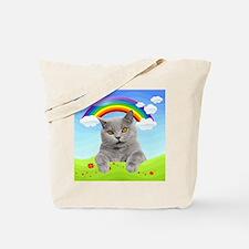 Rainbow Kitty Tote Bag