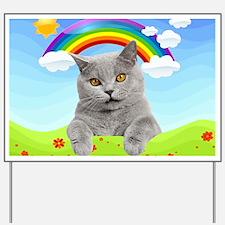 Rainbow Kitty Yard Sign