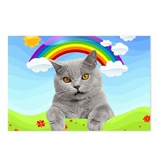 Rainbow Kitty Postcards (Package of 8)