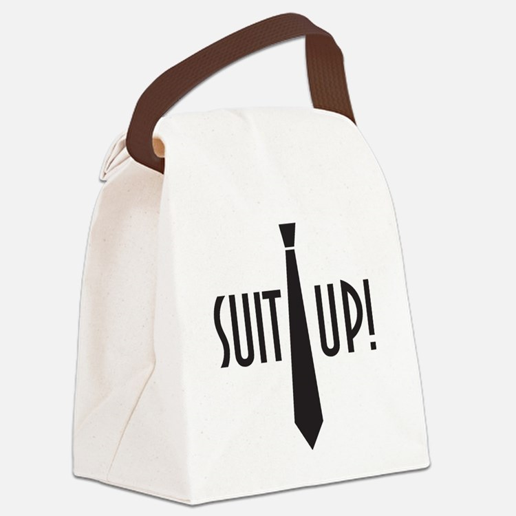 Suit Up! Canvas Lunch Bag