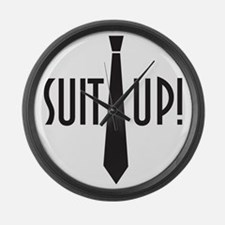 Suit Up! Large Wall Clock