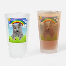 Rainbow Kitty Drinking Glass
