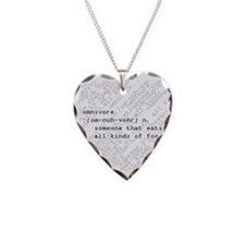 Omnivore Necklace Heart Charm