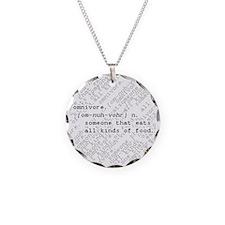 Omnivore Necklace Circle Charm