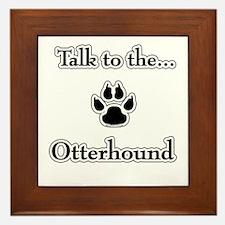 Otterhound Talk Framed Tile