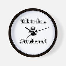 Otterhound Talk Wall Clock