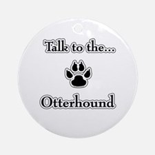 Otterhound Talk Ornament (Round)