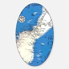GUAM MAP Sticker (Oval)