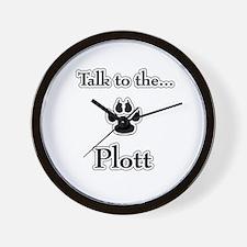 Plott Talk Wall Clock