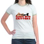 Sleeps With Critters Jr. Ringer T-Shirt