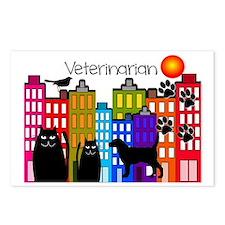 Veterinarian Whimsical bu Postcards (Package of 8)