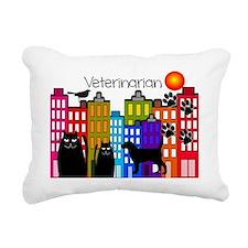 Veterinarian Whimsical b Rectangular Canvas Pillow