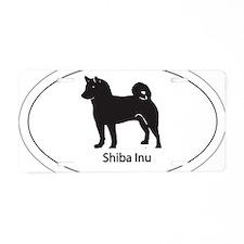 Shiba Inu Sticker Aluminum License Plate