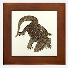 Komodo Dragon Photo Framed Tile