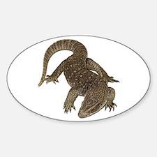 Komodo Dragon Photo Oval Decal