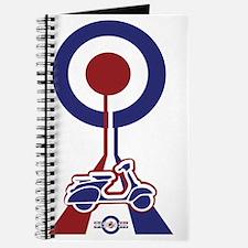 Retro Scooter Mod Designer T-shirt Journal
