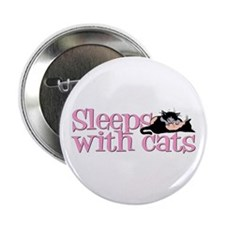 Sleeps With Cats Button