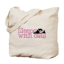 Sleeps With Cats Tote Bag