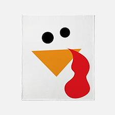 Funny Turkey Thanksgiving Throw Blanket