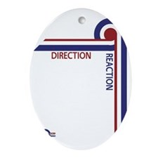 Direction Reaction designer mod Scoo Oval Ornament