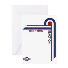 Direction Reaction designer mod Scoo Greeting Card