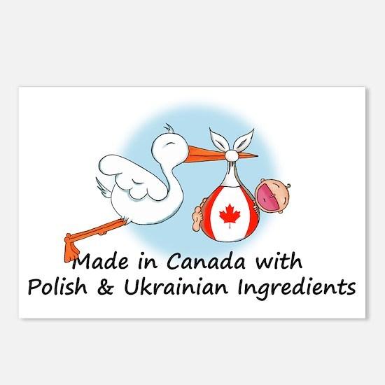 polish canadian ukrainian Postcards (Package of 8)