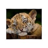 Siberian tiger Fleece Blankets