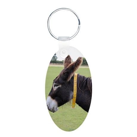 Donkeys! Aluminum Oval Keychain