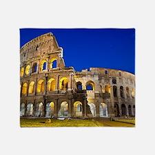 Rome - Colosseum At Dusk Throw Blanket