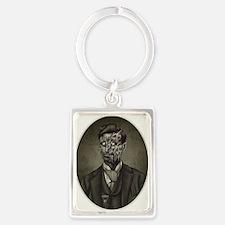 Vintage Zombie Gentleman Portrait Keychain