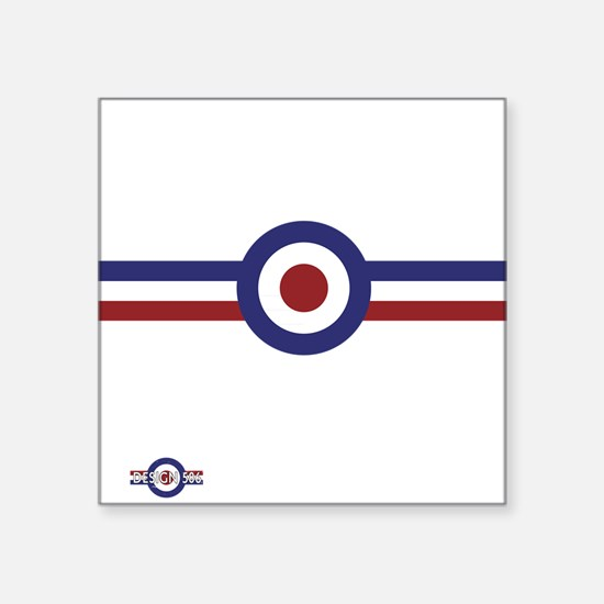 """Retro scooter and mod targe Square Sticker 3"""" x 3"""""""