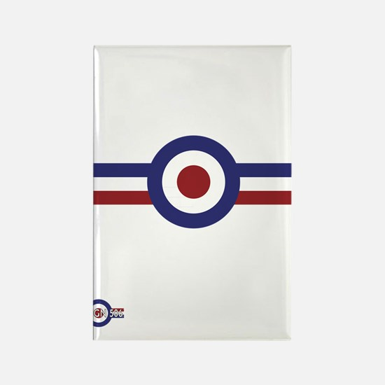Retro scooter and mod target stri Rectangle Magnet