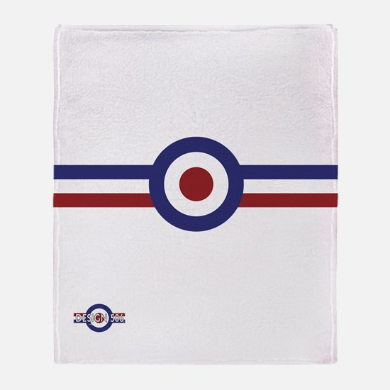Retro scooter and mod target stripes Throw Blanket