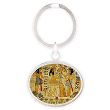 Ancient Egypt wall Scroll Tapestry H Oval Keychain
