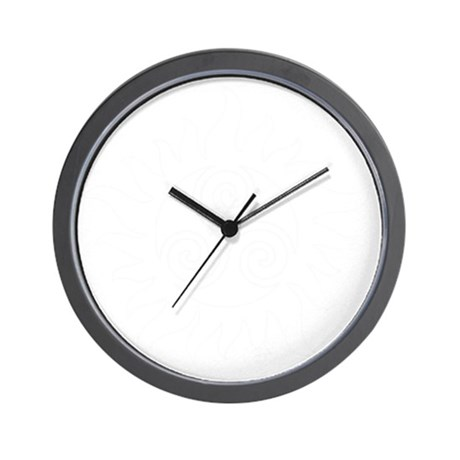 SuperWolf White Wall Clock